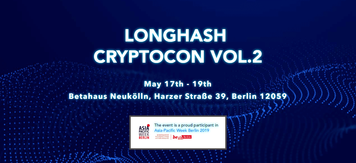 Berlin, Germany, Longhash cryptocon, event, conference, summit, bitcoin, blockchain, crypto, cryptocurrency, may, 2019