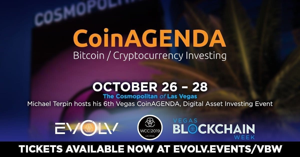 Las Vegas, CoinAgenda, conference, summit, event, bitcoin, blockchain, crypto, cryptocurrency, October, 2019