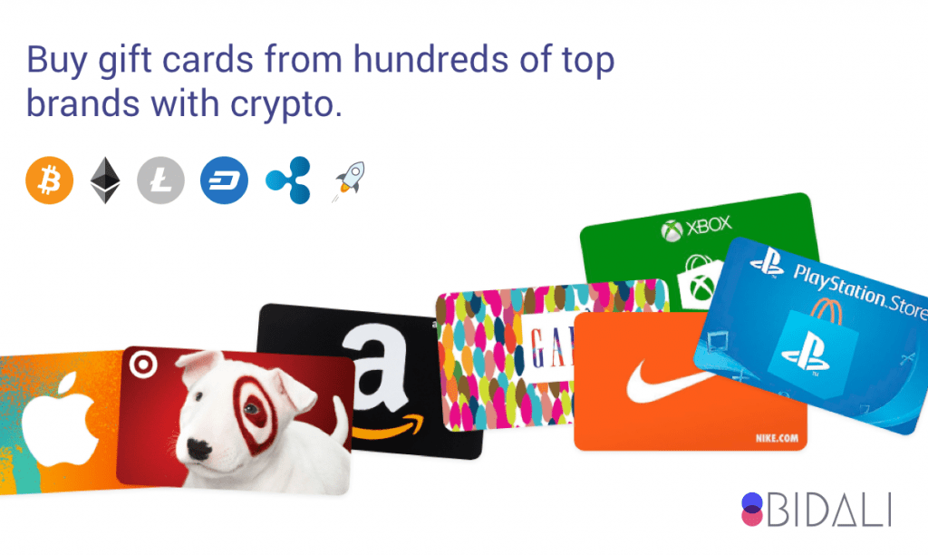 gift cards, Bidali Gift cards, crypto payments, purchases, crypto, cryptocurrency, bitcoin
